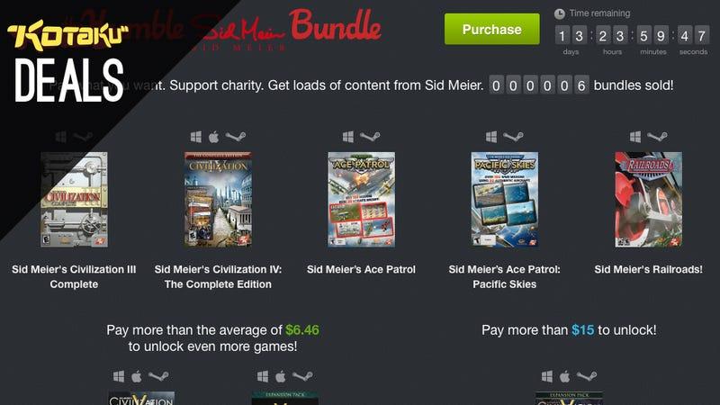 Illustration for article titled Humble Sid Meier Bundle, Cheaper Carbonation, Spaceballs, SSDs [Deals]