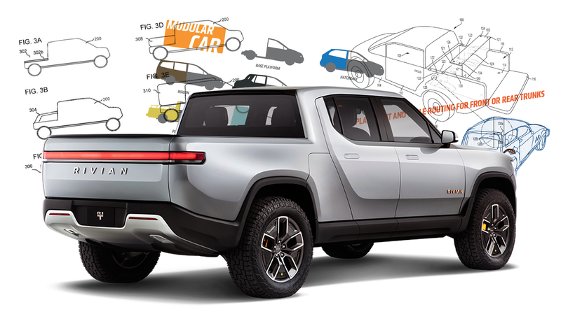 Illustration for article titled Electric Truck Startup Rivian's Patents Look a Lot Like My Idea for Modular Cars
