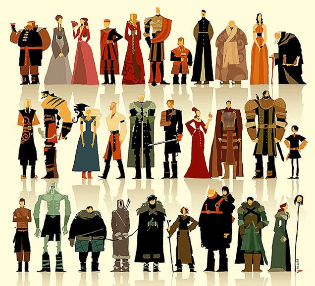 Game Of Thrones Characters By Ramon Nuñez: Game Of Thrones Characters Beautifully Illustrated In