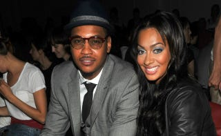 """Illustration for article titled Melo's Wife To Jordan Crawford: """"You On The Bench For A Reason"""""""