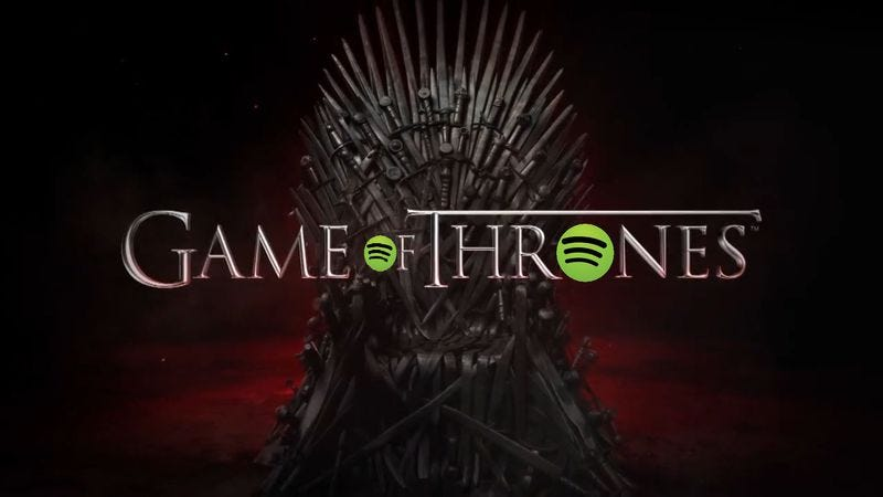 Illustration for article titled Prepare for the new season with these Game Of Thrones Spotify playlists