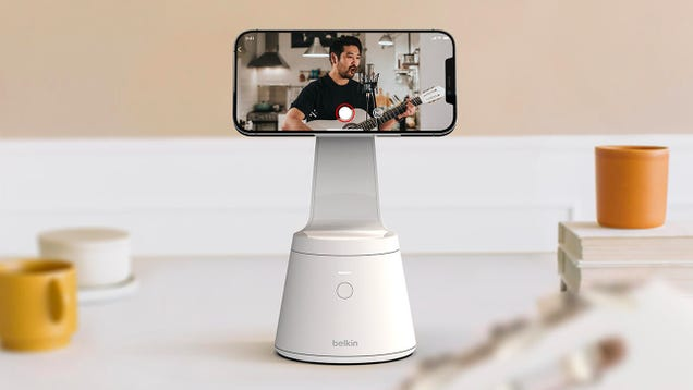 Say Goodbye to Painful Neck Strain With Belkin s New Face-Tracking iPhone Stand That Always Points at You