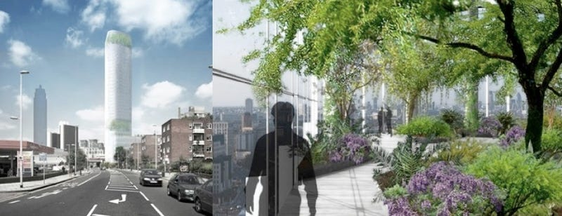Illustration for article titled Vauxhall Sky Garden Building Gets Three-Storey Gardens Inside