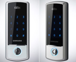 Illustration for article titled Touchscreen Samsung Door Lock Looks Better Than Most Cellphones