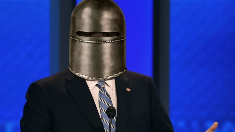 Illustration for article titled Ted Cruz Skyrockets In Polls After Head Permanently Sealed Within Iron Mask