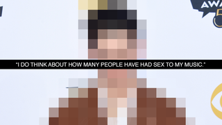 Illustration for article titled Name That Celeb: Who Wonders How Many People Have Sex To His Music?