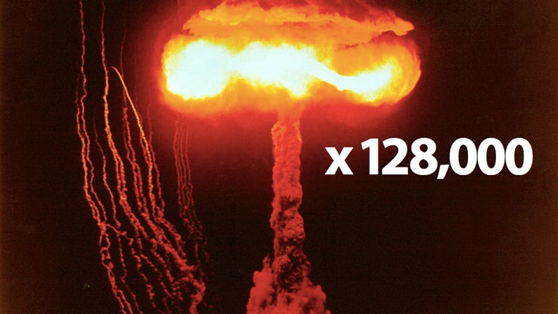 Illustration for article titled Mankind Has Created 128,000 Nukes—But 2% Are a Mystery