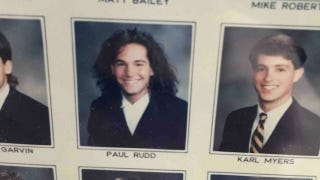 Illustration for article titled Paul Rudd Looked Like a Total Goober In His College Frat Headshot
