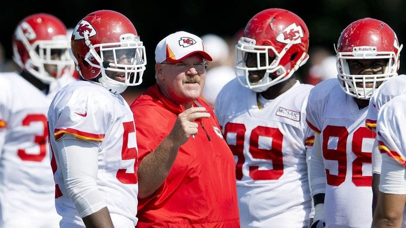 Illustration for article titled Andy Reid Motivates Chiefs With Inspirational Speech About Great Burrito Place