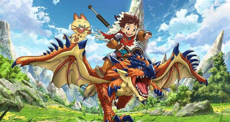 Illustration for article titled Funimation will stream Monster Hunter Stories Ride On!