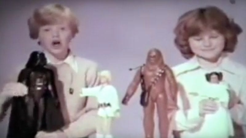Illustration for article titled Video of 1977 Star Wars toy ads is a never-ending parade of Skywalkers