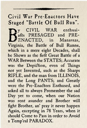 "Illustration for article titled Historical Archives: Civil War Pre-Enactors Have Stage'd ""Battle of Bull Run"""
