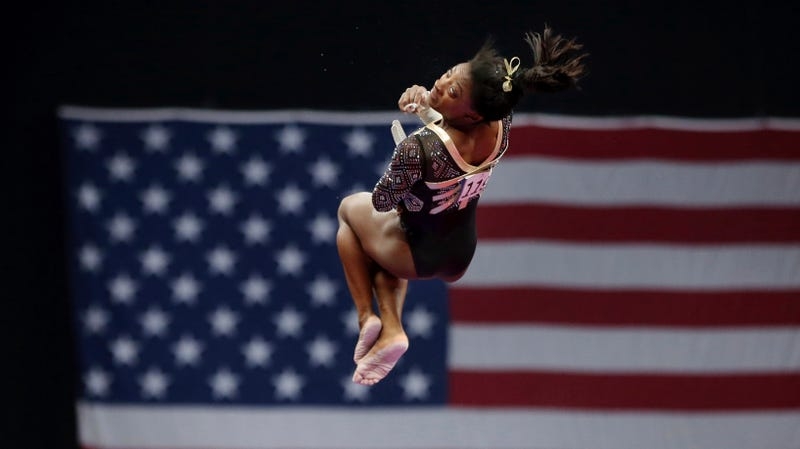 Illustration for article titled Here Are Some Videos Of Simone Biles Dominating At The National Championships