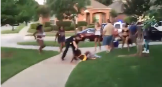 An officer aggressively subdues a teen at a pool party in McKinney, Texas.YouTube Screenshot