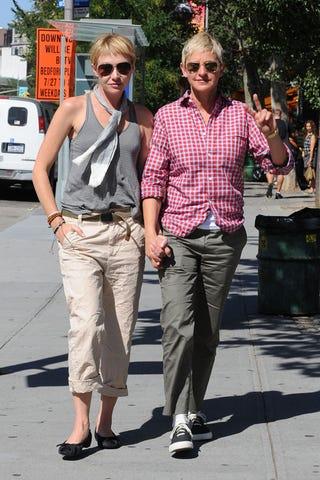 Illustration for article titled Ellen & Portia's Wacky Khaki Love