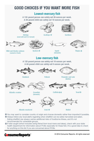 Know which fish are low in mercury with this chart for Can you eat fish while pregnant