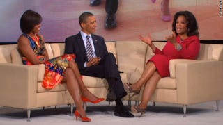 """The president and first lady on """"The Oprah Winfrey Show"""" (CNN)"""