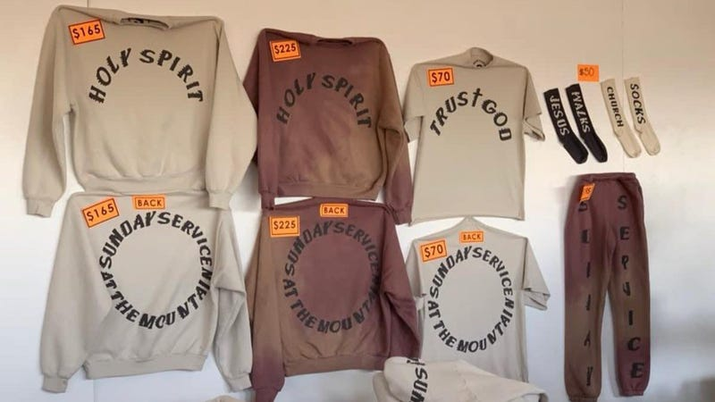 "Illustration for article titled Kanye, ever the Christian, is now charging $225 for sweatshirts that say ""holy spirit"""