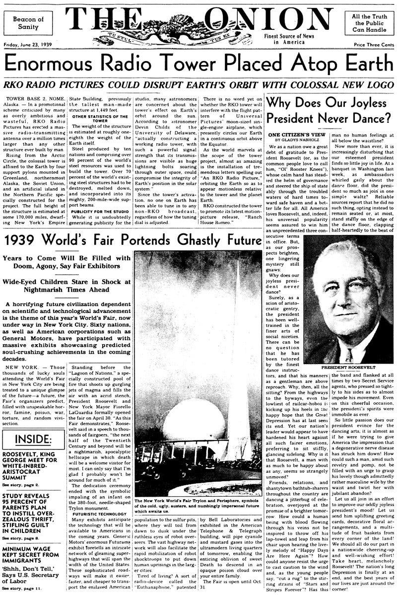 Illustration for article titled June 23, 1939