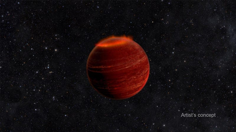 Artist's concept of a brown dwarf.