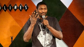Illustration for article titled World Peace And Breast Milk: An Evening With Ron Artest, Funny Man