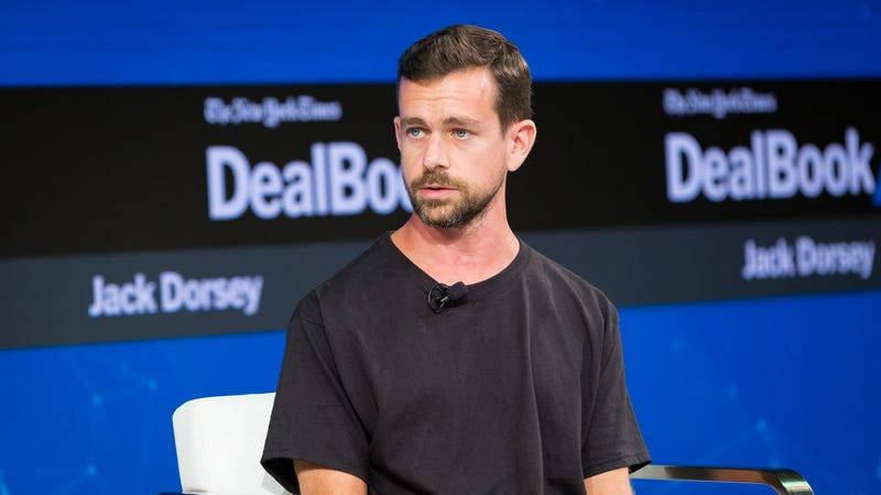 Twitter CEO Jack Dorsey speaks during the New York Times 2017 DealBook Conference on November 9, 2017 in New York City.