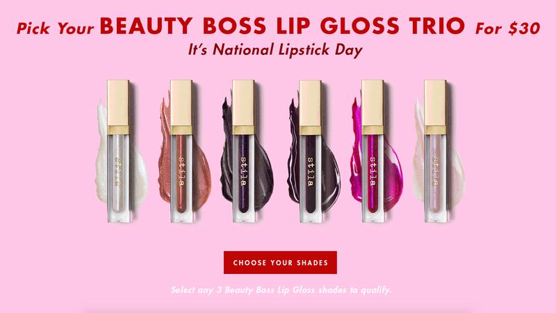 Beauty Boss Lip Gloss Trio | $30 | Stila Cosmetics