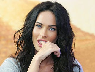 Illustration for article titled Megan Fox Daydreaming About Megan Fox Naked