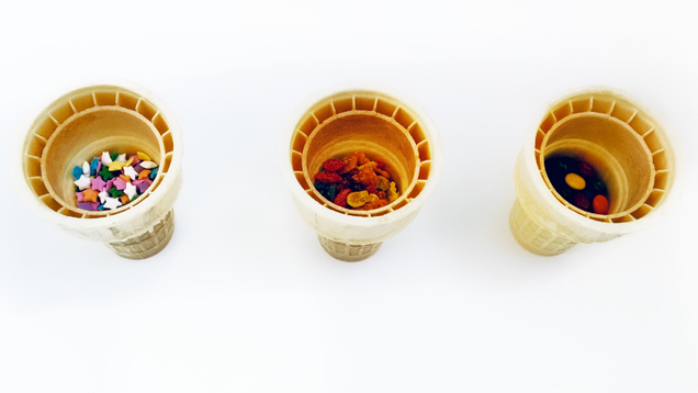 Turn Your Ice Cream Cone Toppings Into  Bottomings