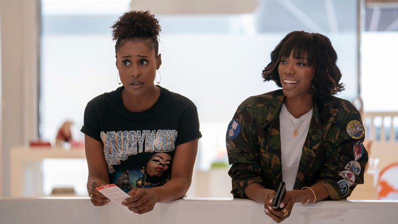 (L-R): Issa Rae and Yvonne Orji on Season 3 of Insecure