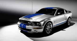 Illustration for article titled King of the Road Indeed: The 2008 Shelby Cobra GT500KR Concept Surfaces