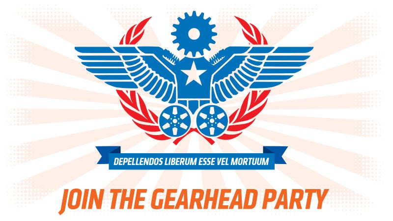 Illustration for article titled We Need A Gearhead Party To Stick Up For People Who Love Cars