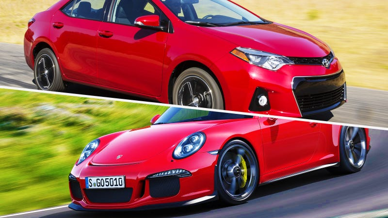 Illustration for article titled The Enthusiast Feature The 2014 Corolla Gets That The 911 GT3 Doesn't