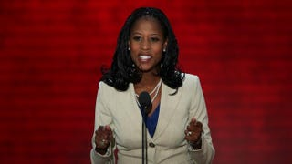 Former Mayor of Saratoga Springs, Utah, Mia Love speaks during the Republican National Convention at the Tampa Bay Times Forum Aug. 28, 2012, in Florida. Mark Wilson/Getty Images