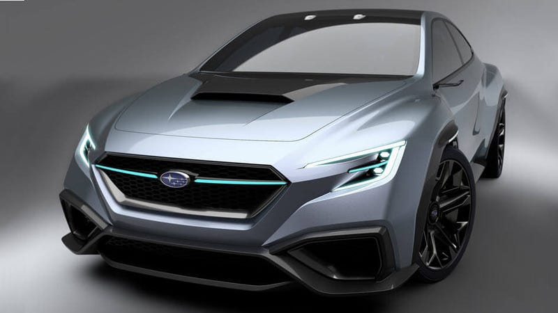 Illustration for article titled The Subaru Viziv Performance Concept Is A Next-Gen WRX With Even More Angles