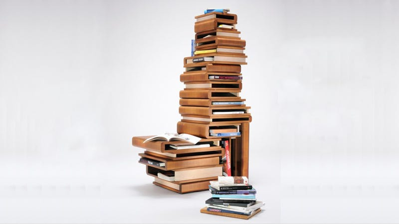 Illustration for article titled Book-Shelf or Reading Chair? The Choice Is Yours.