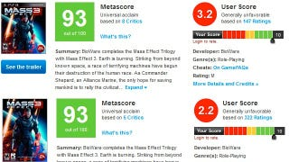 Illustration for article titled Metacritic Says It Has Removed Rule-Violating Mass Effect 3 User Reviews
