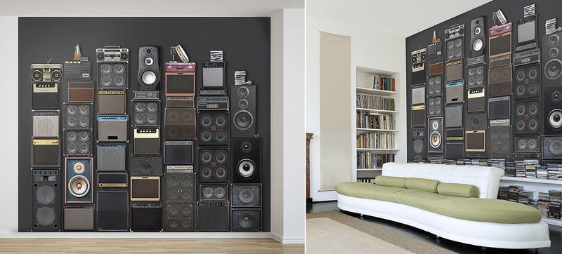 Illustration for article titled A Giant Fake Wall of Amps and Speakers That Will Never Blow a Fuse