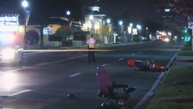 L A Auto Show Car Hit Pedestrian
