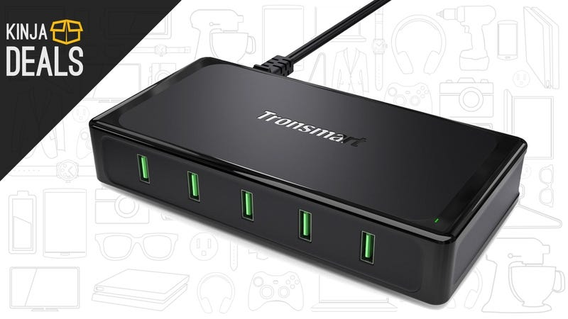 Illustration for article titled All Five Ports on This USB Charging Hub Feature Quick Charge 2.0