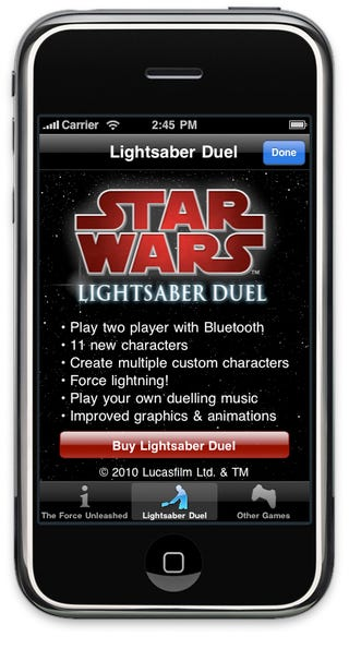 Upcoming Lightsaber iPhone App Pairs Via Bluetooth For Dueling Sessions