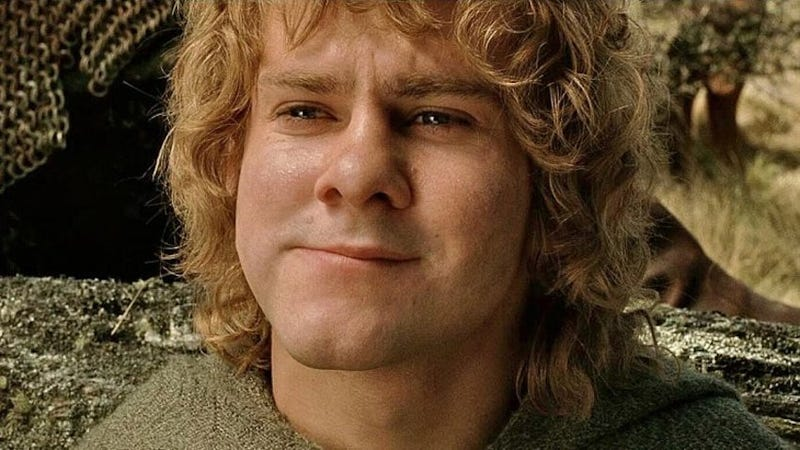 Dominic Monaghan as Merry in Lord of the Rings.