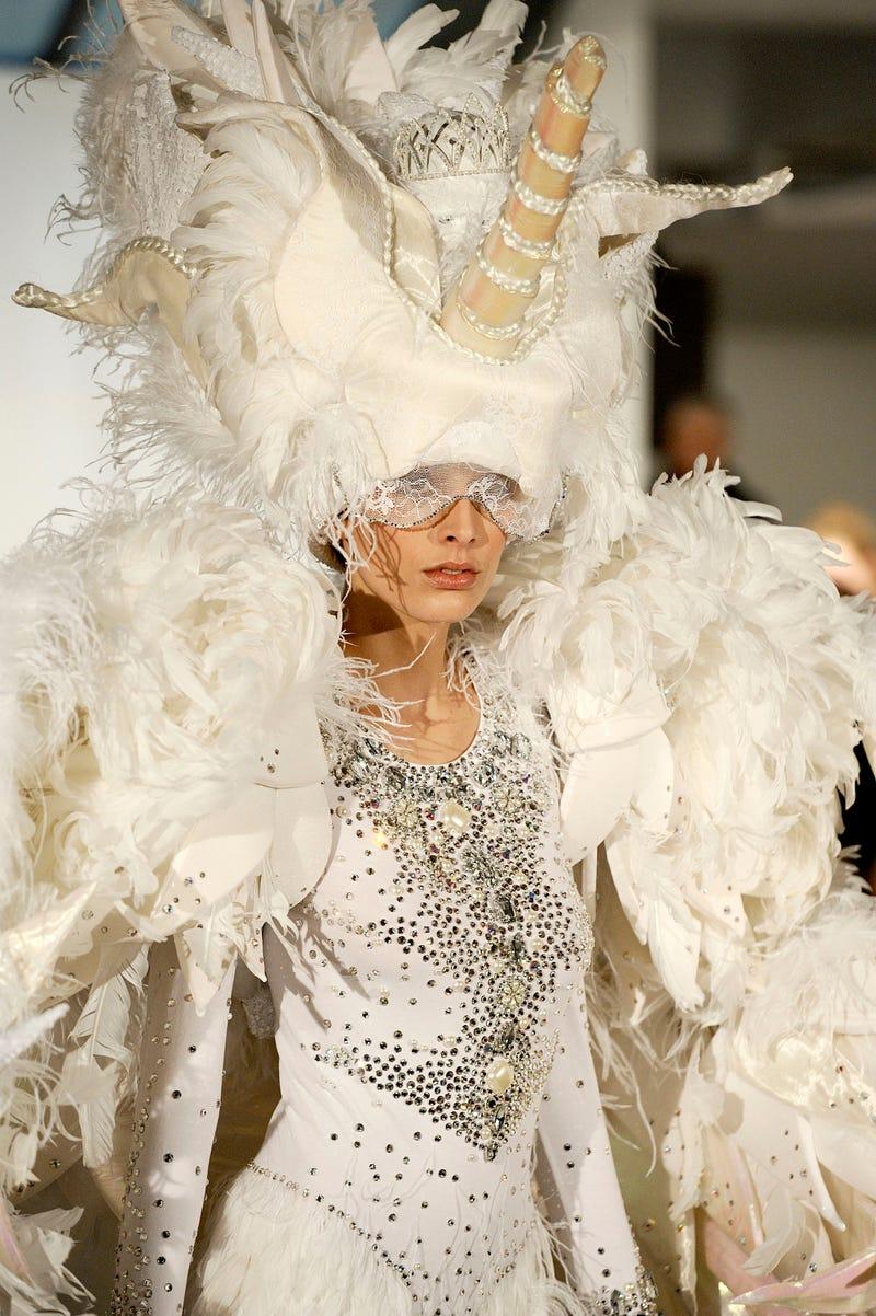 Illustration for article titled Unicorn woman rules the Paris fashion scene