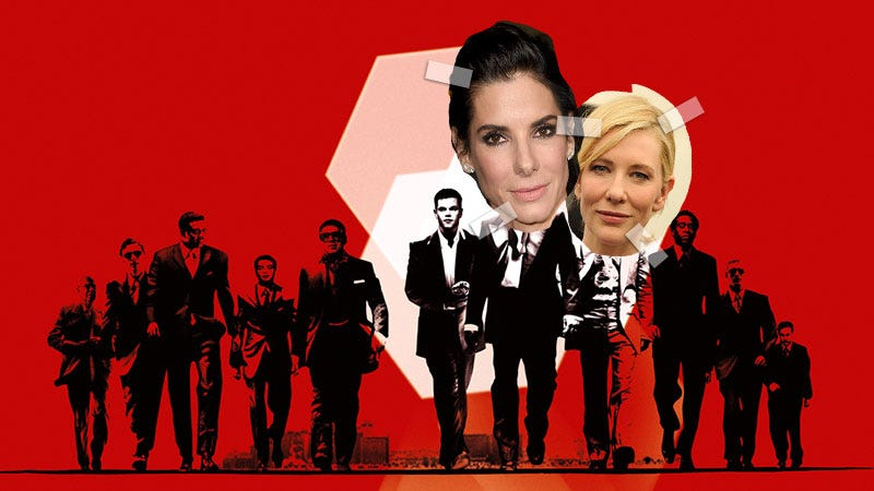 Illustration for article titled Sandra Bullock Is Starring In an All-Woman Ocean's 11, Cate Blanchett May Join, and I Need To Sit Down