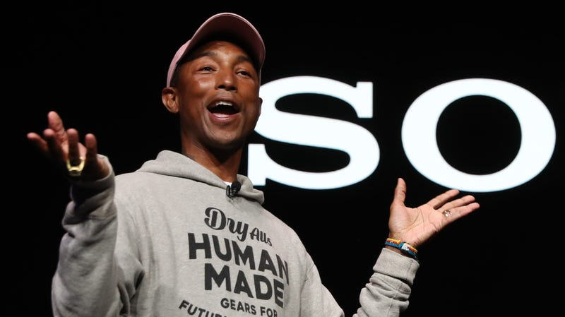 Recording artist Pharrell Williams speaks during a Sony press event for CES 2019 on January 7, 2019 in Las Vegas, Nevada.
