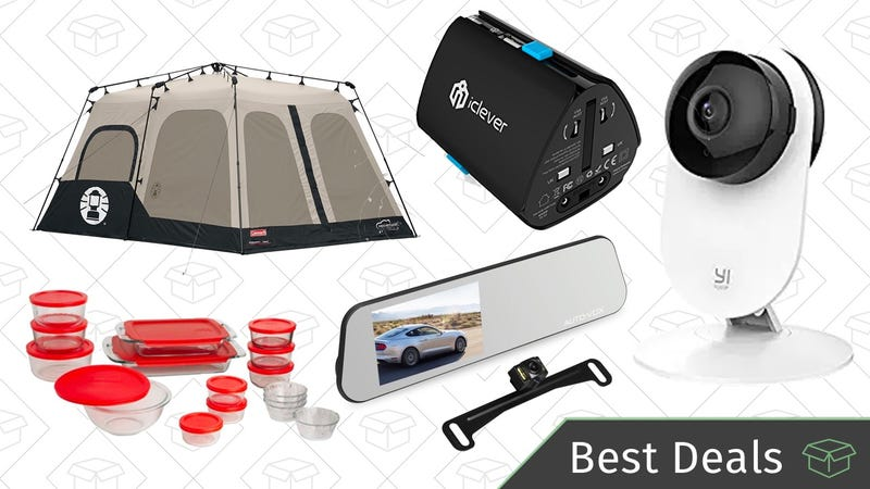 Illustration for article titled Saturday's Best Deals: Coleman Camping Gold Box, Home Security System, Backup Camera, and More