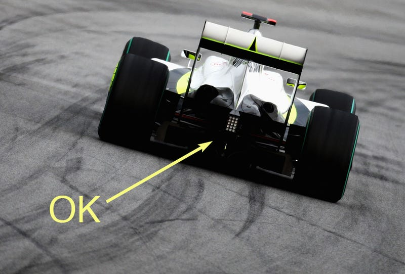 Illustration for article titled F1 Diffuser Row Ends With Brawn GP's Diffuser Legal