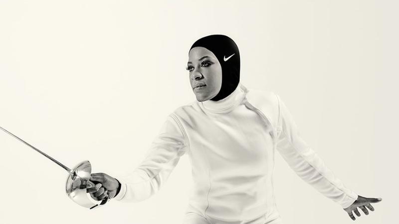 U.S. fencer Ibtihaj Muhammad / Image via Nike