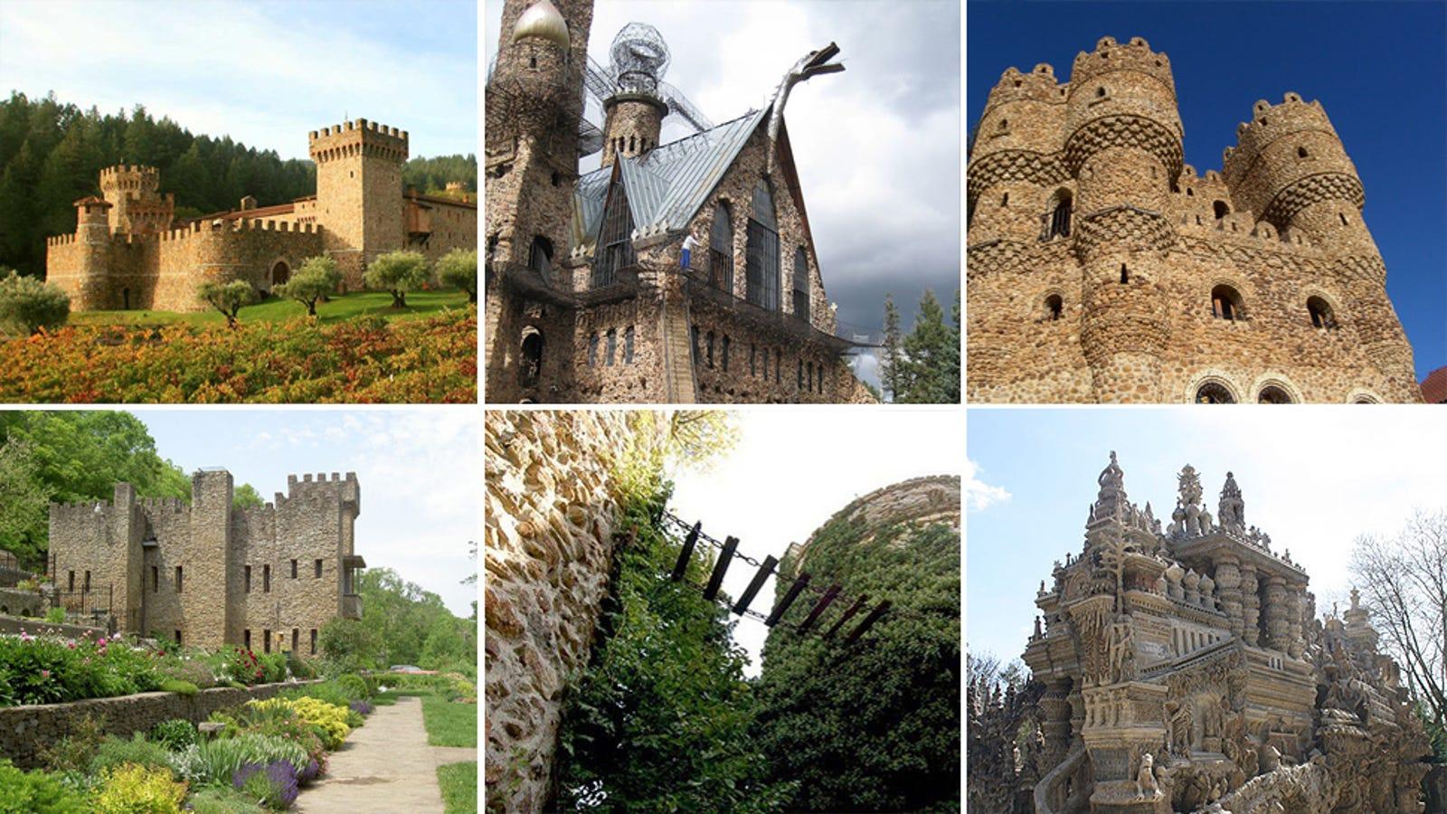 10 castillos espectaculares que fueron construidos a mano por una sola persona
