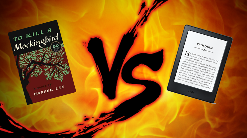 Illustration for article titled Reading Showdown: Used Kindle vs. Trashy Paperback